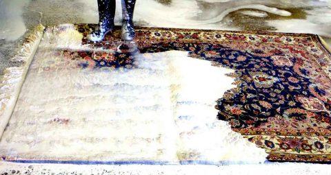 قالیشویی در شهرک جهان نما